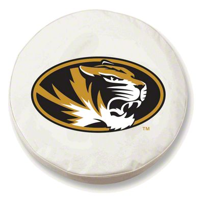 University of Missouri Spare Tire Cover - White (87-18 Jeep Wrangler YJ, TJ, JK & JL)