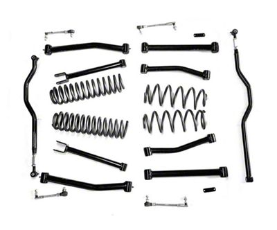 Steinjager 4 in. Advanced Lift Kit - Black (07-18 Jeep Wrangler JK)
