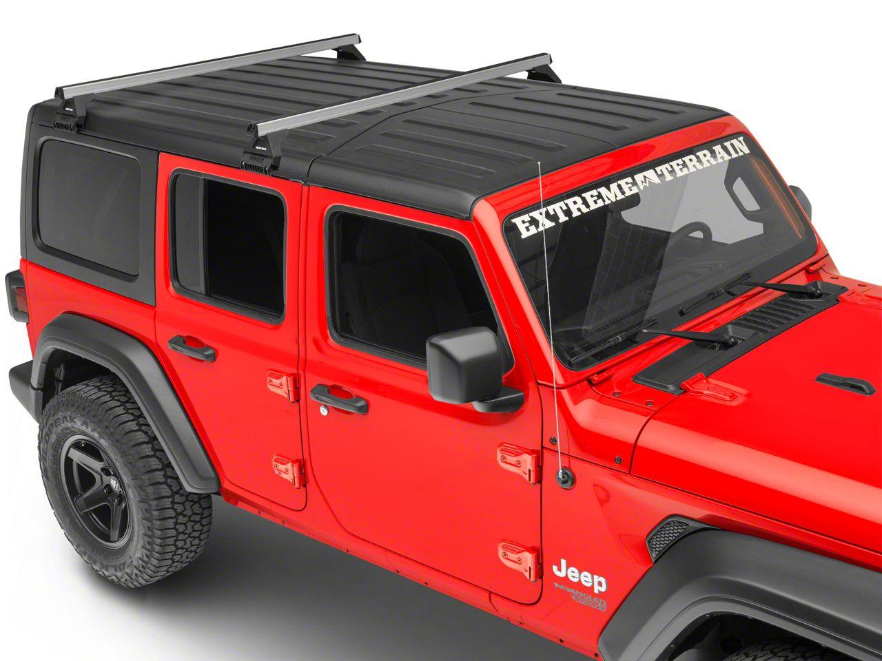 Rhino-Rack Heavy Duty RL110 2 Bar Roof Rack - Silver (2018 Jeep Wrangler JL 4 Door)