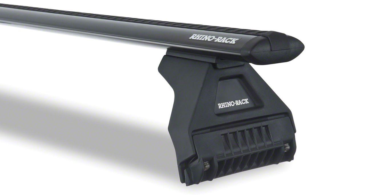 Rhino-Rack Vortex RL110 3 Bar Roof Rack - Black (18-19 Jeep Wrangler JL 4 Door)