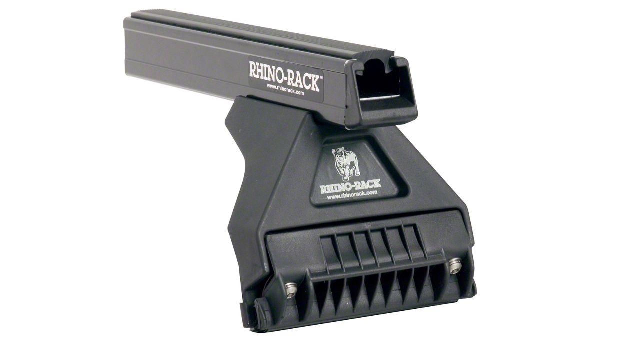 Rhino-Rack Heavy Duty RL110 3 Bar Roof Rack - Black (2018 Jeep Wrangler JL 4 Door)