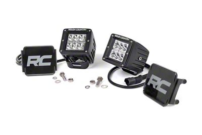Rough Country 2 in. Chrome Series LED Cube Lights - Spot Beam - Pair