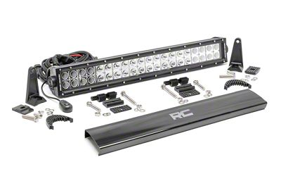 Rough Country 20 in. Chrome Series Dual Row LED Light Bar - Flood/Spot Combo