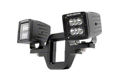 Rough Country Hitch Mount Black Series LED Light Kit - Spot Beam (87-19 Jeep Wrangler YJ, TJ, JK & JL)