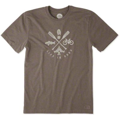 Life is Good Men's Outdoor Action Crusher T-Shirt