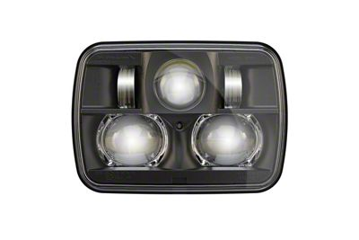J.W. Speaker Model 8900 Evolution 2 LED Headlights w/ Black Bezel (87-95 Jeep Wrangler YJ)