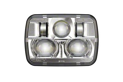 J.W. Speaker Model 8900 Evolution 2 LED Headlights w/ Chrome Bezel (87-95 Jeep Wrangler YJ)