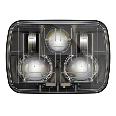 J.W. Speaker Model 8910 Evolution 2 LED Headlights w/ Black Bezel (87-95 Jeep Wrangler YJ)
