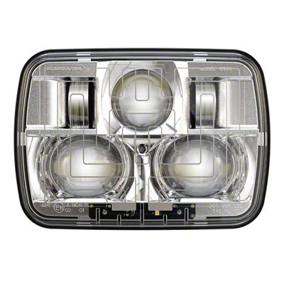 J.W. Speaker Model 8910 Evolution 2 LED Headlights w/ Chrome Bezel (87-95 Jeep Wrangler YJ)