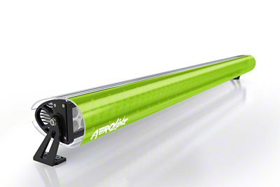 AeroX 32 in. LED Light Bar Cover Transparent Insert - Lime Green