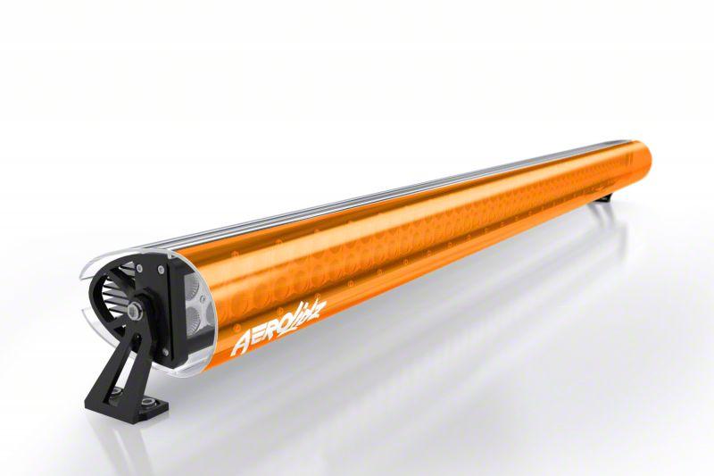 AeroX 32 in. LED Light Bar Cover Transparent Insert - Orange