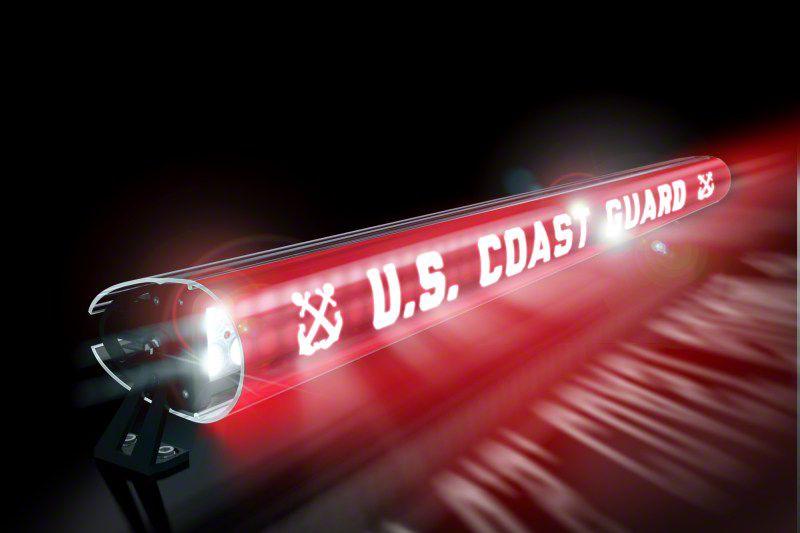 AeroX 52 in. LED Light Bar Cover Insert - U.S. Coast Guard