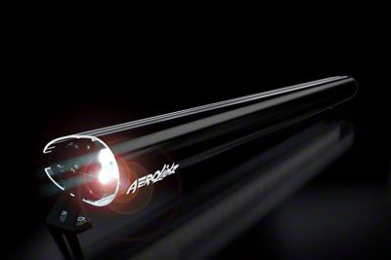 AeroX 52 in. LED Light Bar Cover Transparent Insert - Black