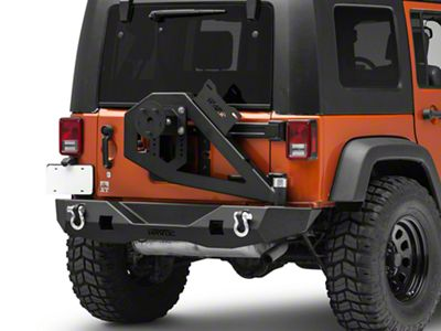 Havoc Offroad GEN 2 Aftershock Rear Bumper w/ Tire Carrier (07-18 Jeep Wrangler JK)