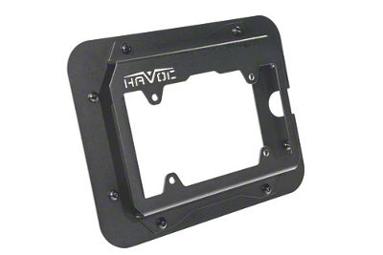 Havoc Offroad Eliminator Tailgate Plate w/ License Plate Mount - Black Aluminum (07-18 Jeep Wrangler JK)