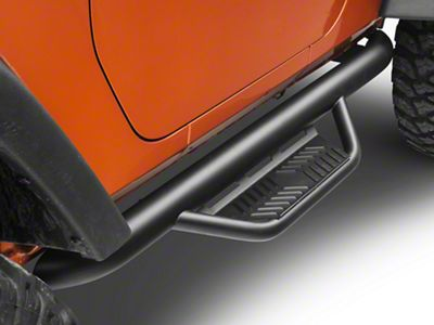 Havoc Offroad HS2 Hoop Side Step Bars - Black (07-18 Jeep Wrangler JK 2 Door)