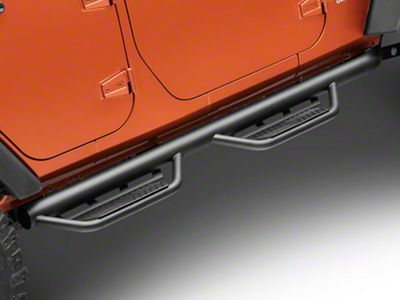 Havoc Offroad HS2 Hoop Side Step Bars - Black (07-18 Jeep Wrangler JK 4 Door)
