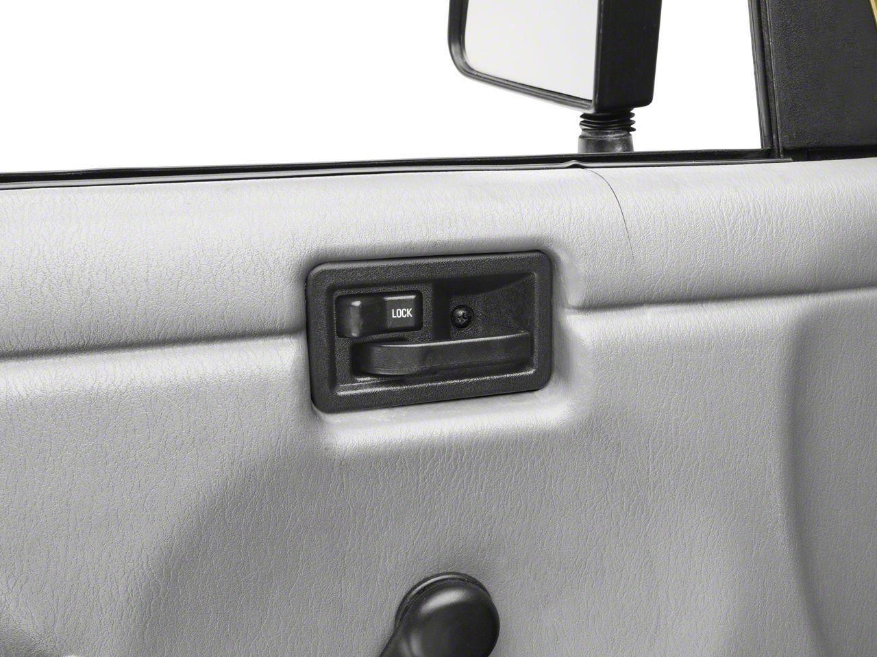 Omix-ADA Interior Door Handle - Left Side (87-06 Jeep Wrangler YJ & TJ)