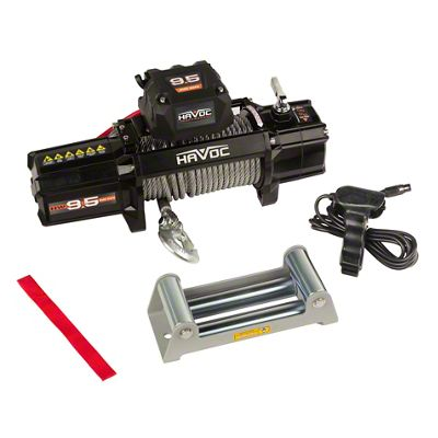 Havoc Offroad 9,500 lb. Winch w/ Steel Cable