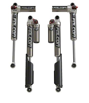 Teraflex Falcon Series 3.3 Fast Adjust Piggyback Front and Rear Shocks for 0-1.5 in. Lift (18-19 Jeep Wrangler JL 4 Door)