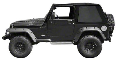 Suntop Fastback Top w/ Cargo Cover - Black Diamond (97-06 Jeep Wrangler TJ, Excluding Unlimited)