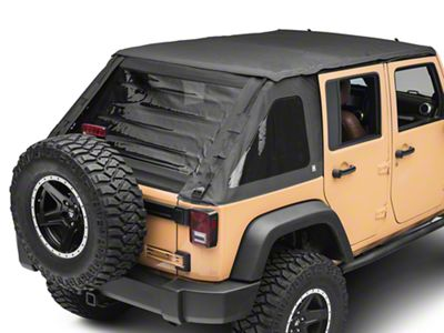 Suntop Fastback Top - Black Diamond (07-18 Jeep Wrangler JK 4 Door)