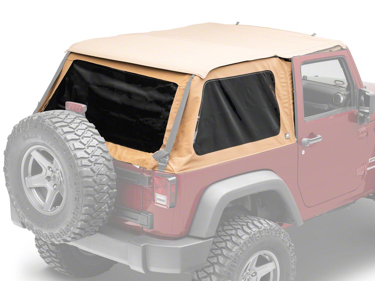 Suntop Fastback Top - Deep Sand (07-18 Jeep Wrangler JK 2 Door)