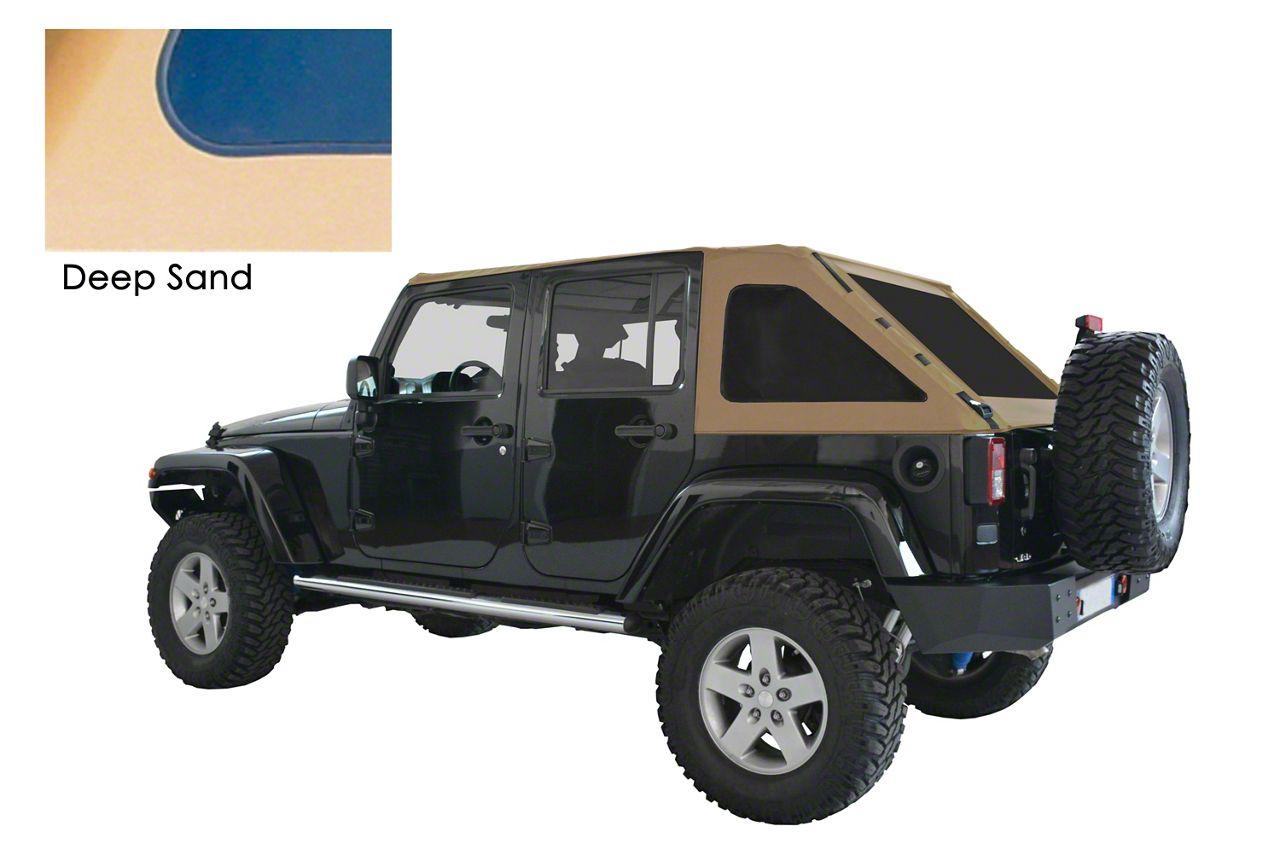 Suntop Fastback Top - Deep Sand (07-18 Jeep Wrangler JK 4 Door)