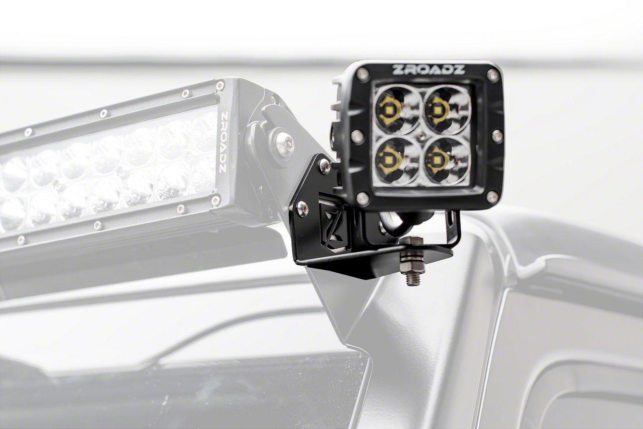 ZRoadz 3 in. LED Light Cube Roof Side Mounting Brackets (18-19 Jeep Wrangler JL)