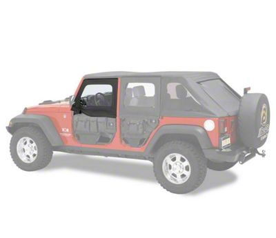 Bestop HighRock 4x4 Element Front Upper Doors - Black Twill (07-18 Jeep Wrangler JK)