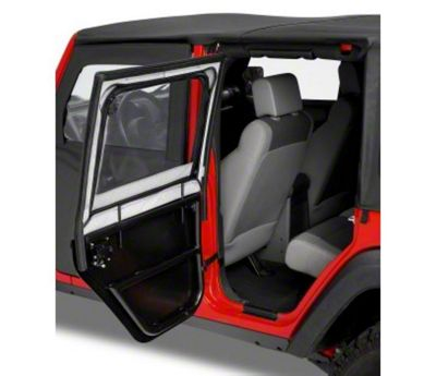 Bestop HighRock 4x4 Element Rear Upper Doors - Black Twill (07-18 Jeep Wrangler JK 4 Door)