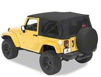 Bestop Trektop Pro Hybrid Soft Top - Tan Twill (07-18 Jeep Wrangler JK 2 Door)