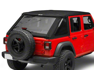 Bestop Trektop NX Soft Top - Black Twill (18-19 Jeep Wrangler JL 4 Door)