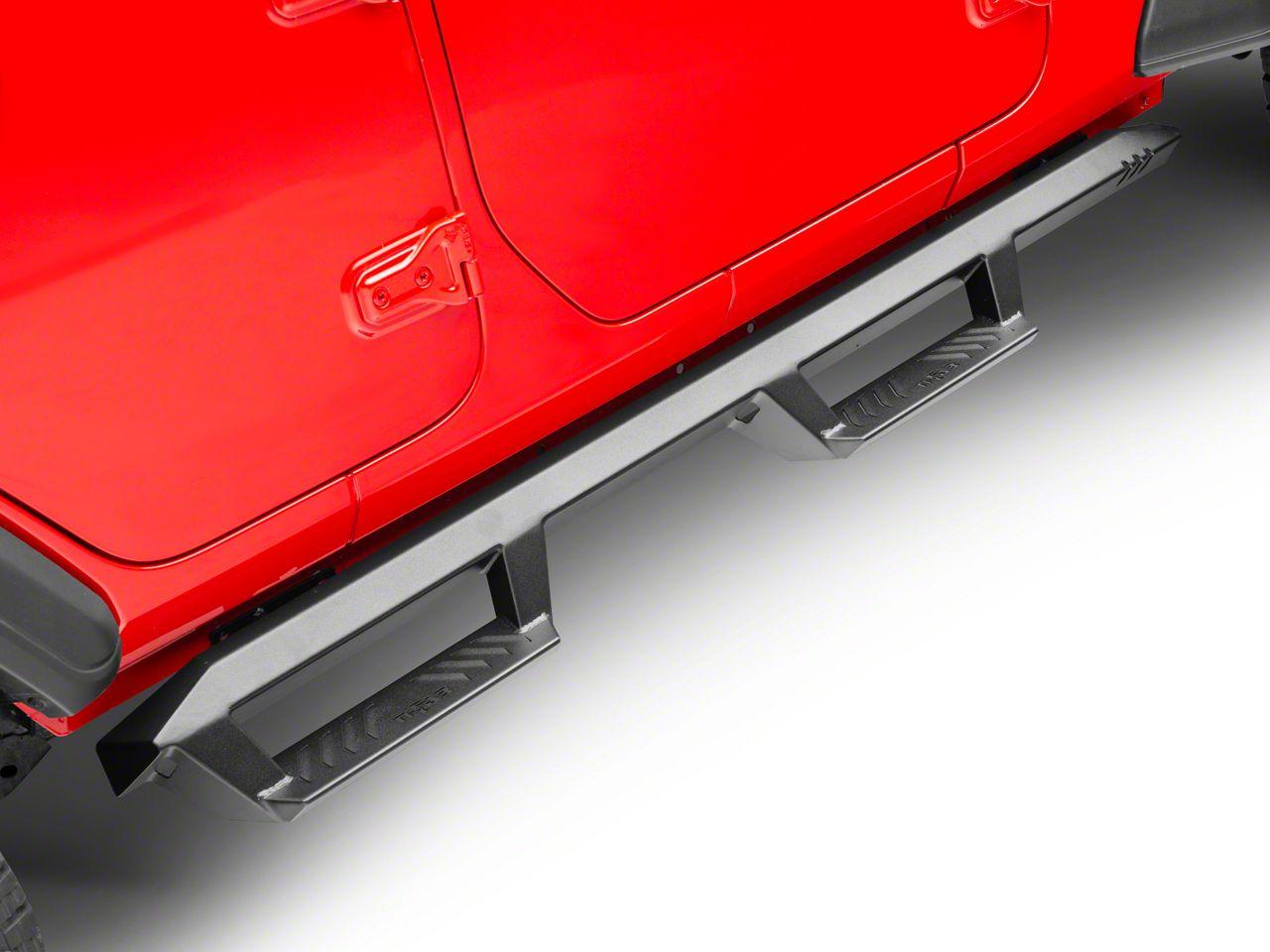 N-Fab EpYx Cab Length Nerf Side Step Bars - Textured Black (18-19 Jeep Wrangler JL 4 Door)