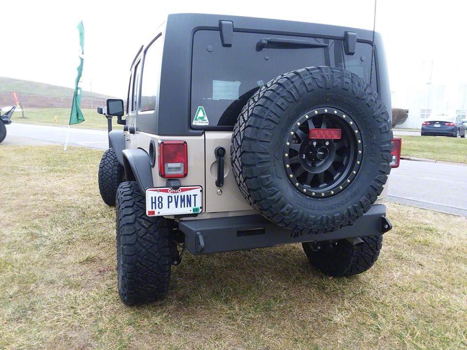 Minimalist Rear Bumper w/ 6 in. LED Light Bar Cutout (07-18 Jeep Wrangler JK)
