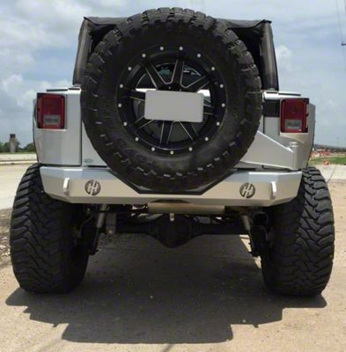 Stubby Rear Bumper w/ Round Reverse Light Cutouts (07-18 Jeep Wrangler JK)