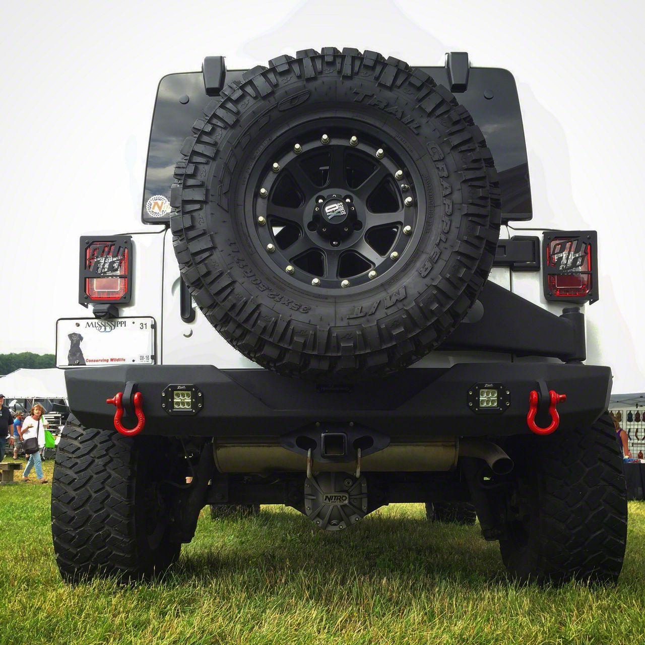 Rear Bumper w/ Flush Mount Reverse Light Cutouts (07-18 Jeep Wrangler JK)