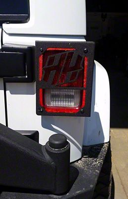 Tail Light Covers w/ HH Logo (07-18 Jeep Wrangler JK)