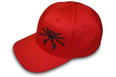 Poison Spyder FlexFit Hat - Red & Black
