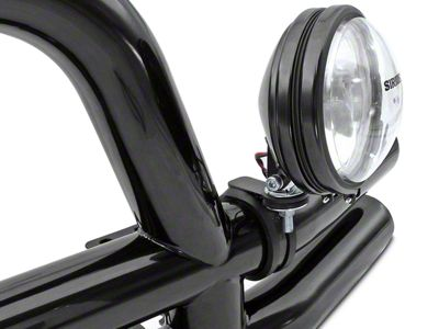 Rugged Ridge Off-Road Light Mounting Bracket for 3 in. Tubular Bars (87-18 Jeep Wrangler YJ, TJ, JK & JL)