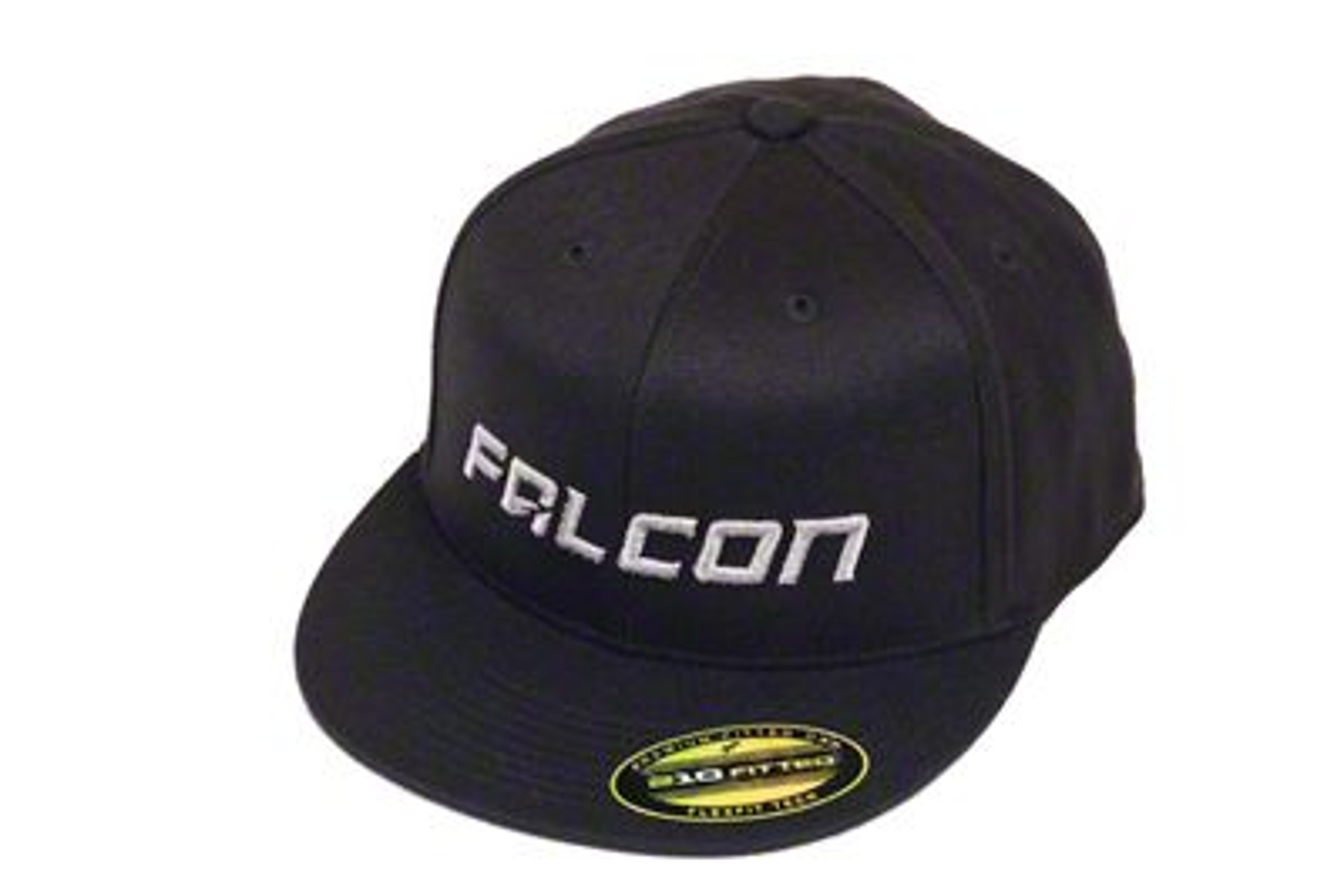Teraflex Falcon Premium FlexFit Flat Visor Hat - Black