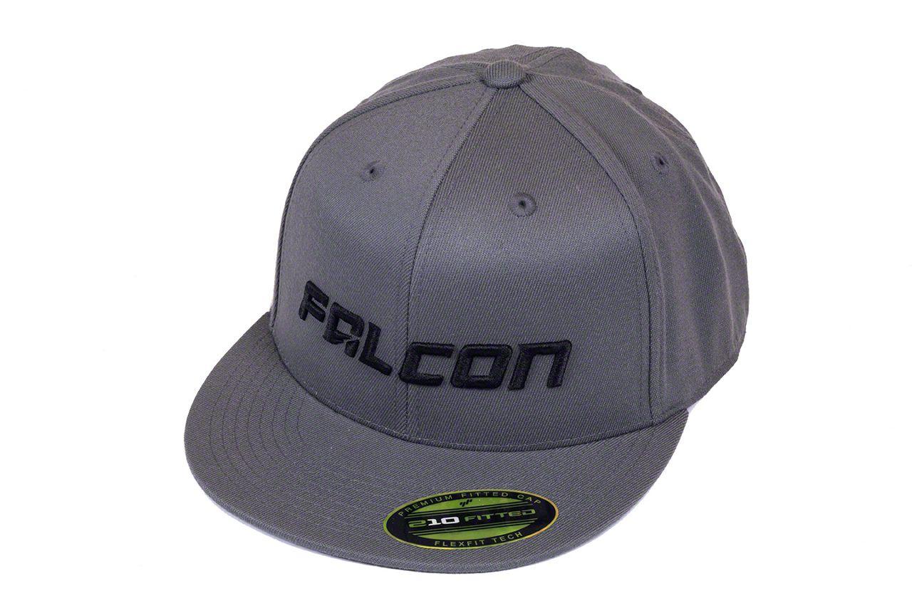 Teraflex Falcon Premium FlexFit Flat Visor Hat - Dark Gray