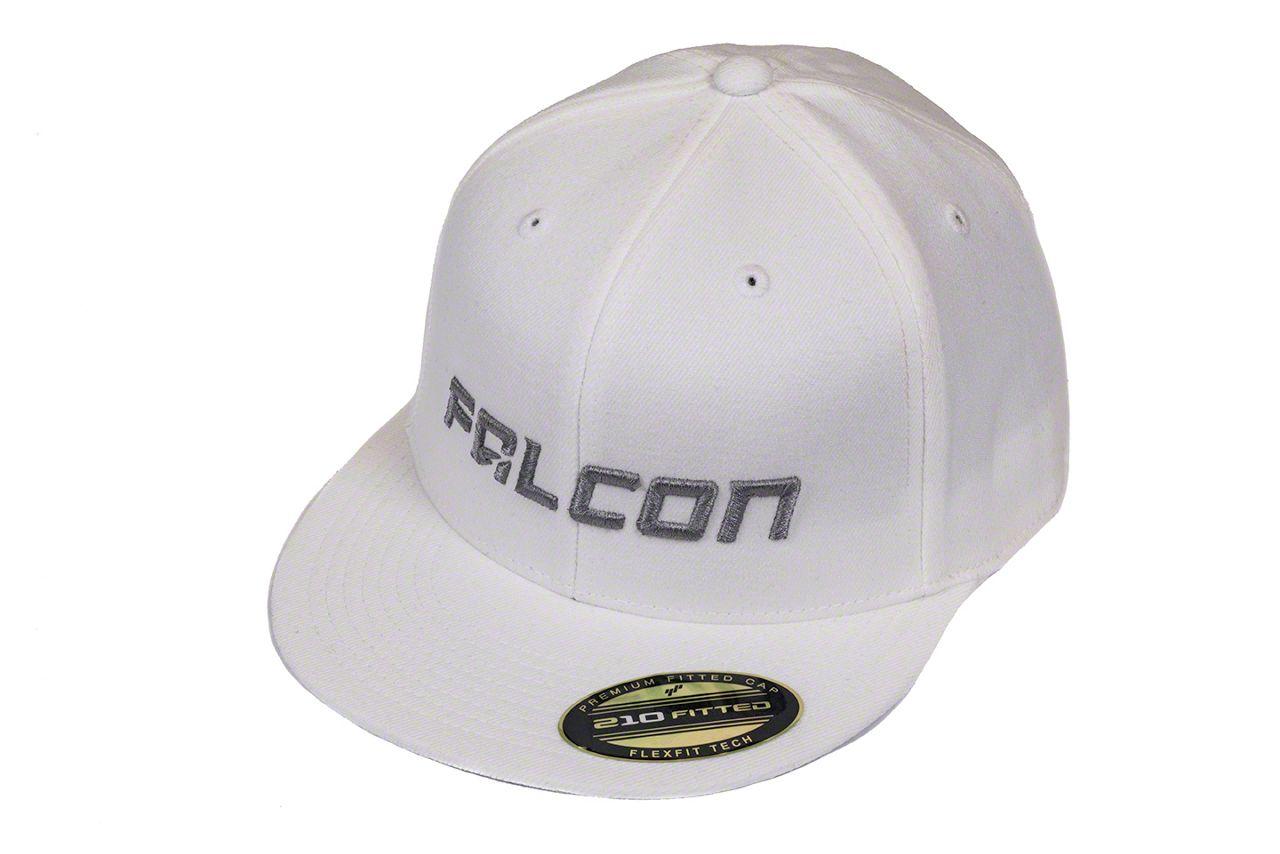 Teraflex Falcon Premium FlexFit Flat Visor Hat - White