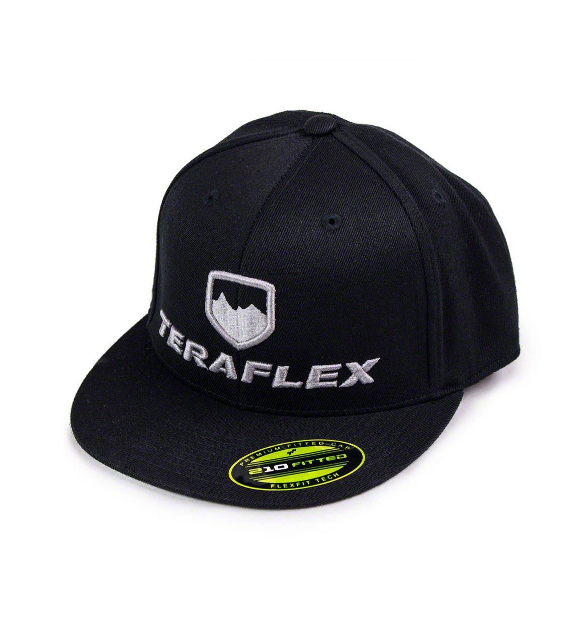 Teraflex Premium FlexFit Flat Visor Hat - Black