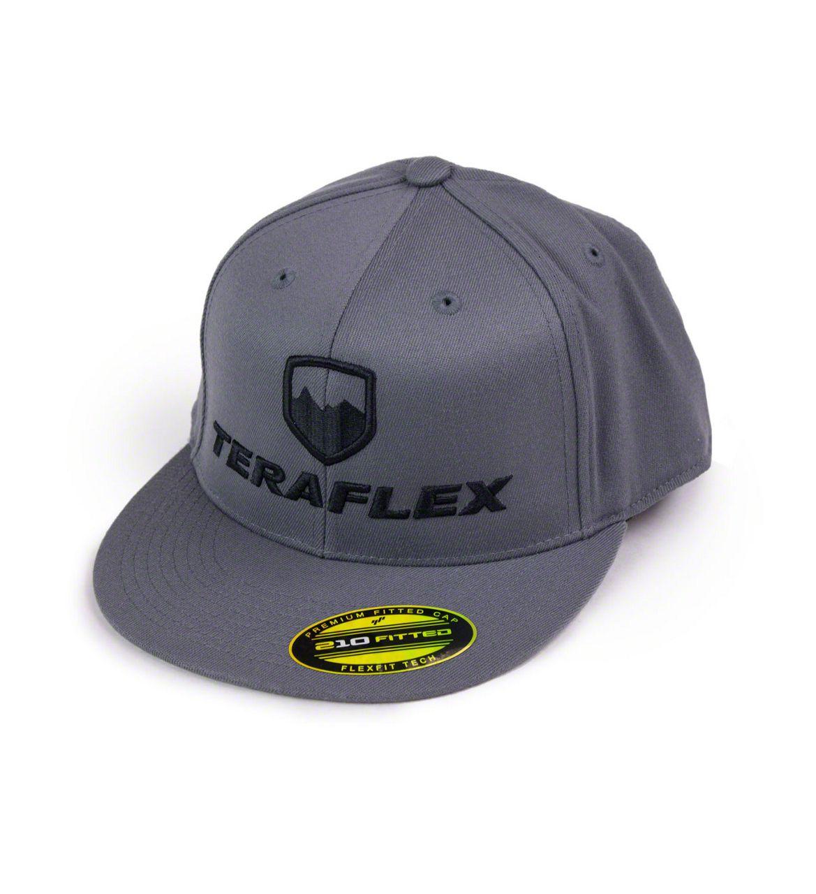 Teraflex Premium FlexFit Flat Visor Hat - Dark Gray