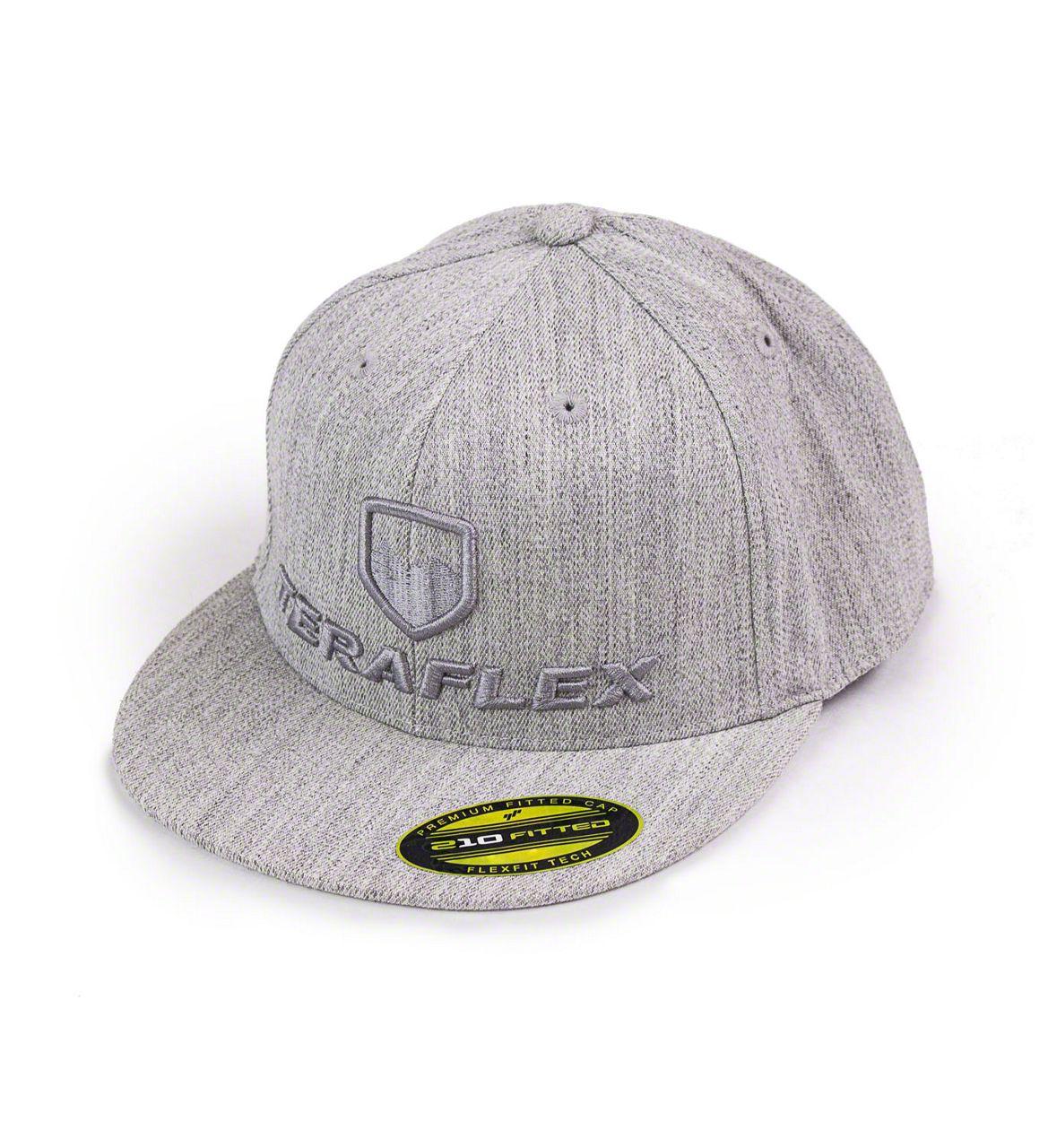 Teraflex Premium FlexFit Flat Visor Hat - Heather Gray