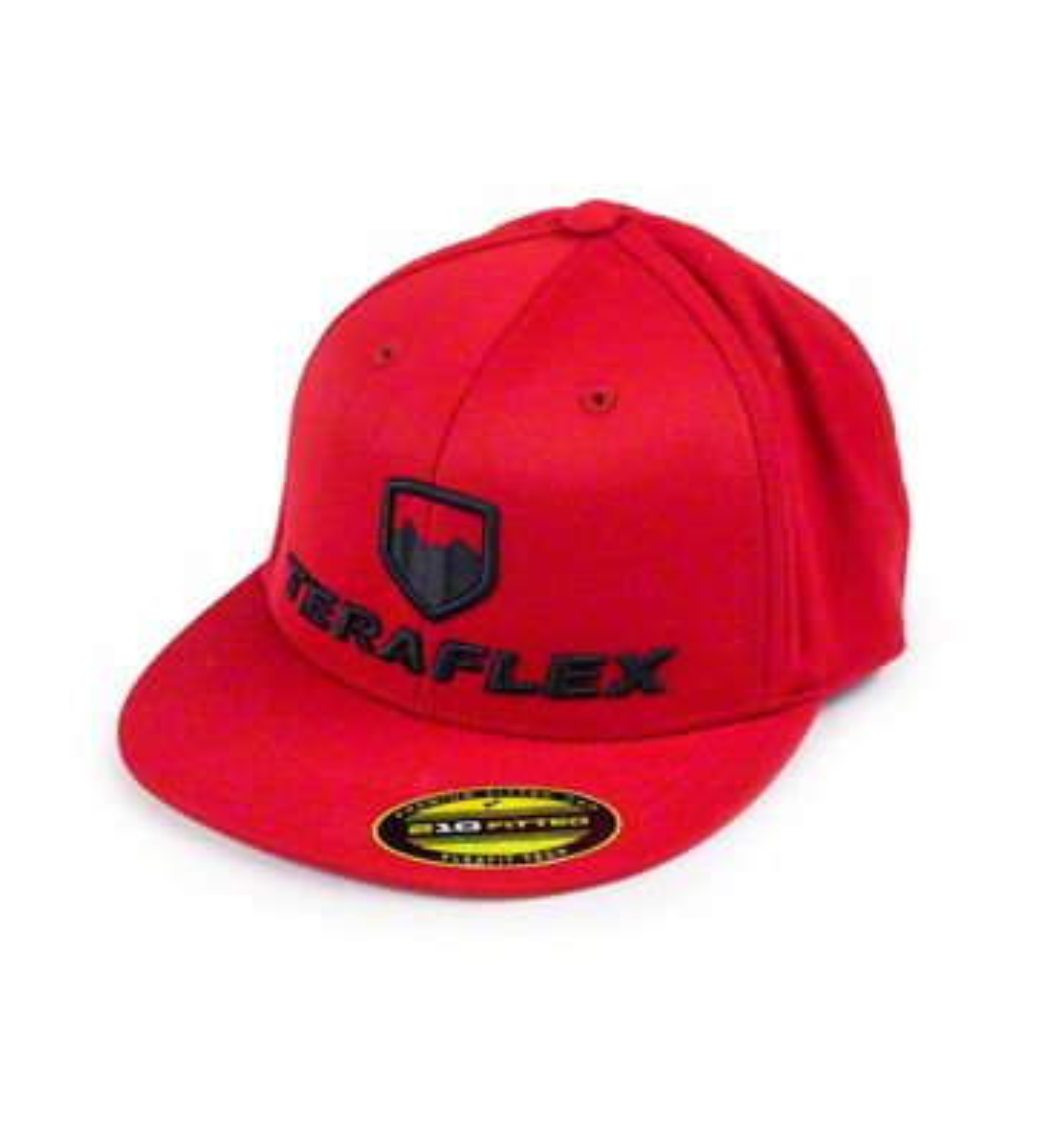 Teraflex Premium FlexFit Flat Visor Hat - Red
