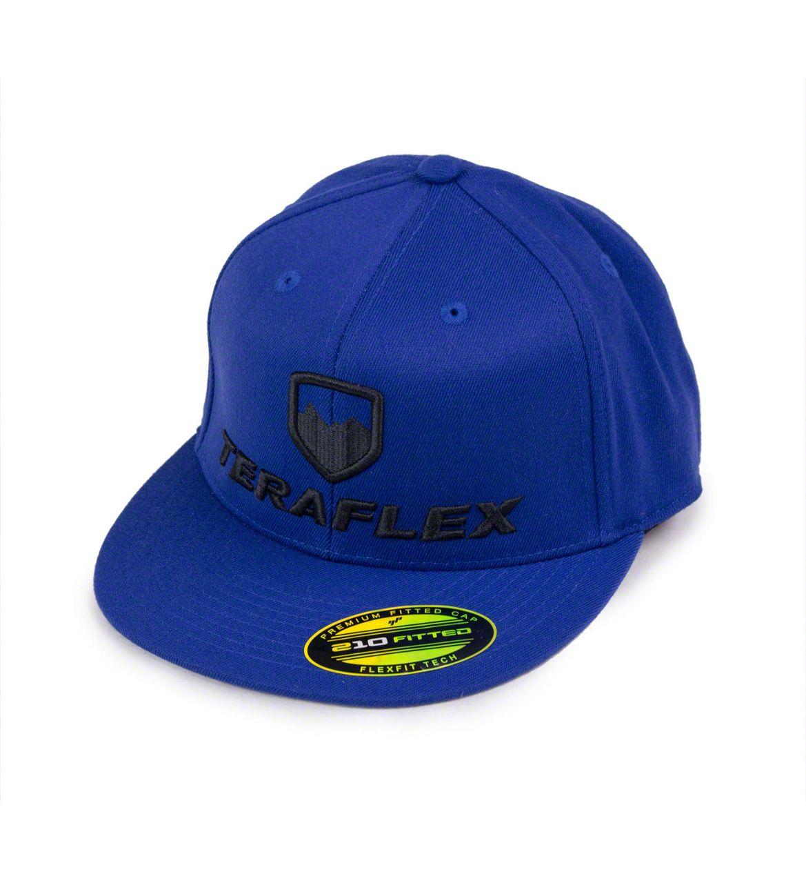 Teraflex Premium FlexFit Flat Visor Hat - Royal Blue