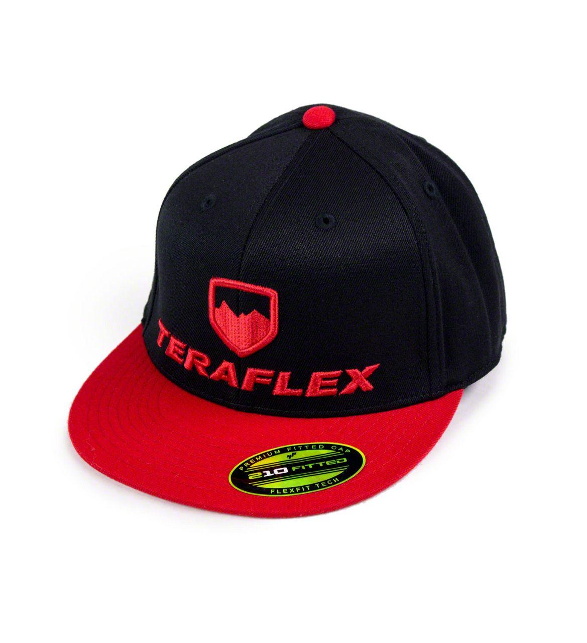 Teraflex Premium FlexFit Two Tone Flat Visor Hat - Black