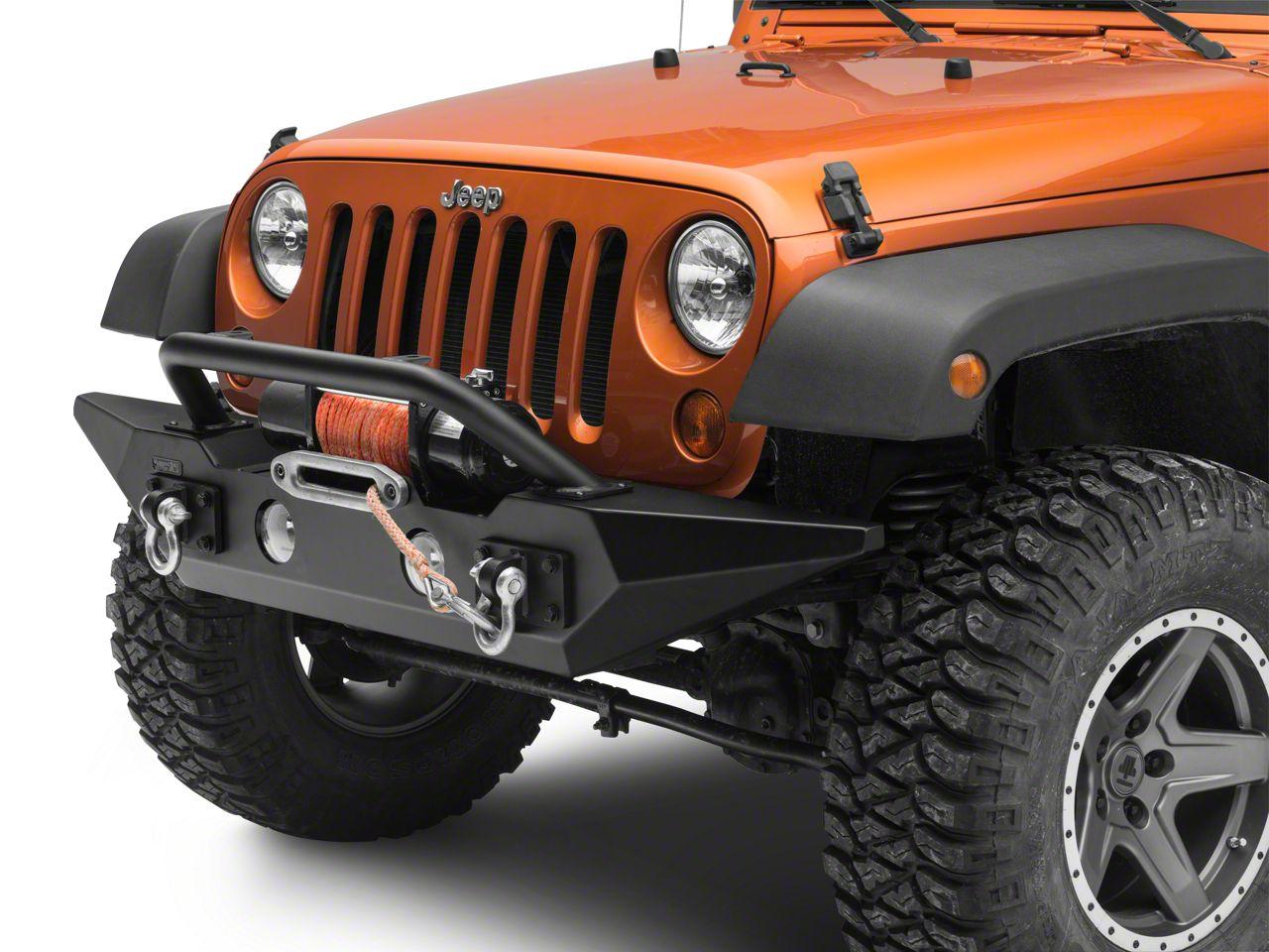 Rugged Ridge Spartan Front Bumper w/ Overrider Bar (07-18 Jeep Wrangler JK)